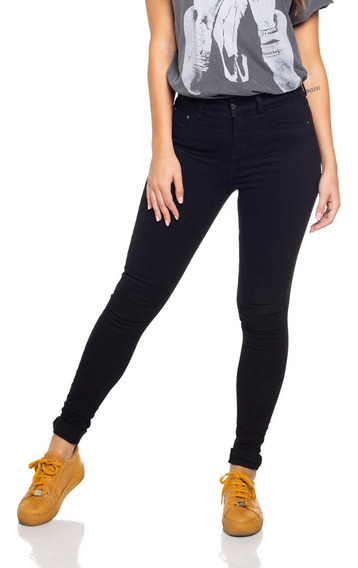 Calça Fem Skinny Média Black And White Denim Zero- Dz2693-12