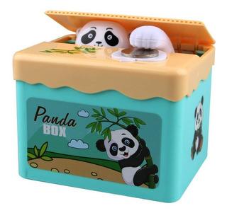 Alcancia Panda Roba Monedas Panda Box A Pilas Ahorro