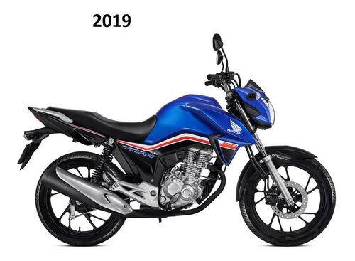 Kit Adesivos Titan 160 2019 Azul Faixas Adesivas Titan 160