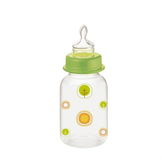 Mamadeira Nature Verde Ortoflex 125ml Multikids Baby