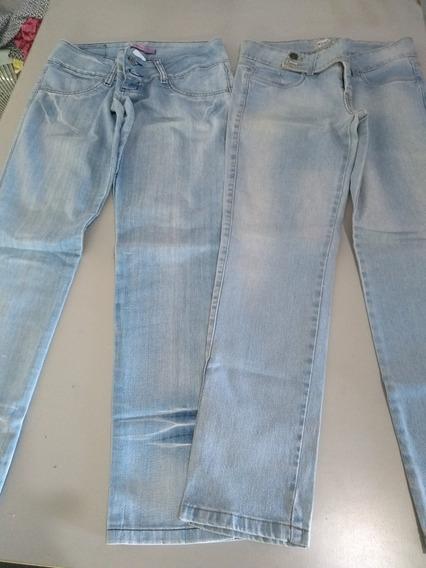 Lote Contém 6 Calças Jeans / Tamanhos Variados / Usadas