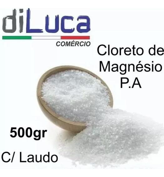 Cloreto De Magnésio Pa Laudo Fabricantepote 500gr