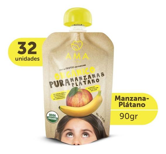 Ama Puré Manzana Plátano Orgánico 32x90gr