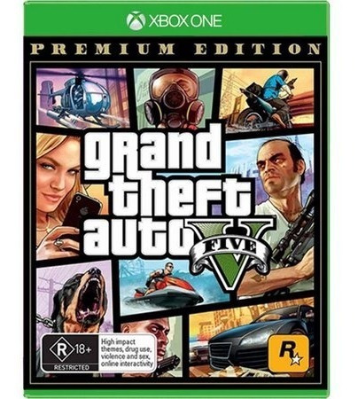 Grand Theft Auto V 5 Xbox One Premium Edition Mídia Física