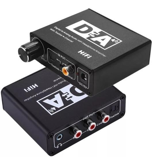 Adaptador E Conversor Optico X Rca X Entrada P2 E Volume