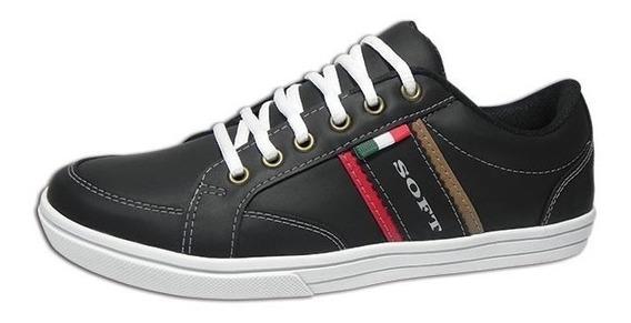 Zapatillas Hombre Soft 450 Livianas Eco Cuero 39 Al 45