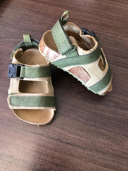 Sandalias Carters Talle 4 Verde Oscuro Sin Uso