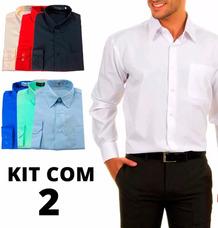49f2dcc42 Camisa Uniforme Trabalho - Camisa Manga Longa Masculino no Mercado ...