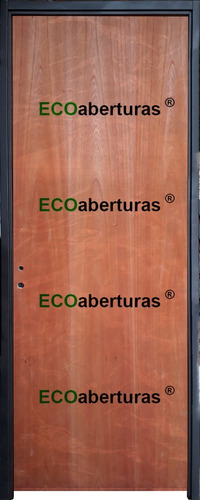 Puerta Placa Interior Cedro Ecoabertura 70x200 Marco Chapa