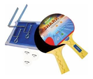 Kit Tênis De Mesa Shark Ping Pong Klopf 5031 Luxo Original