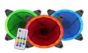 Kit 3 Coolers Fan Rgb + Fita De Led + Controle E Controlador