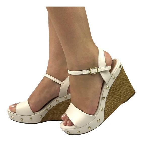 Sandalia Anabela Feminina Sapato Espadrille Lançamento G11