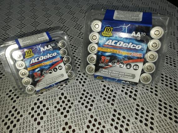 Baterias Marca Acdelco Aaa Super Alkalinas 1.5v En Remate!!!
