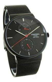 Reloj Tressa Winsor Malla Metal Hombre Elegant 3 Relojes