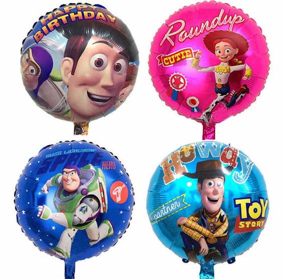 Paquete De Globos Metálicos De Toy Story Fiesta Helio