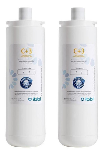 Kit Com 2 Filtros Refil C+3 Para Purificadores De Água Ibbl