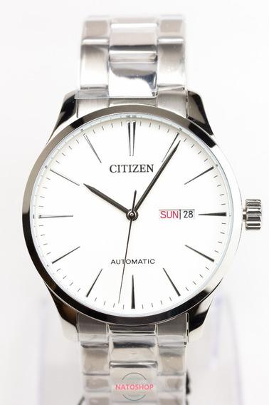 Relógio Citizen Automático Social Nh8350-83a Branco