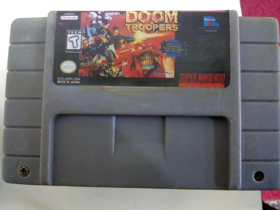 Fita Doom Troopers Jogo Snes Cartucho Super Nintendo