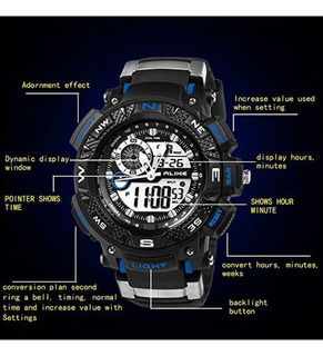 Reloj Militar S-shock Alike Sumergible 50mts Alarma Crono