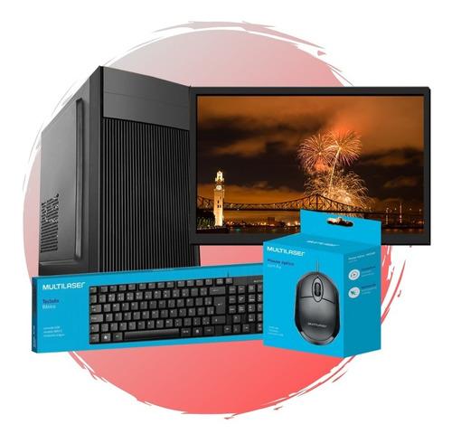 Pc Completo Intel Core I3/ 8gb Ram/ Ssd 120gb/ Monitor 24