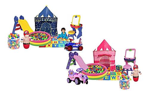 Parque Infantil Sala Niños Piscina+rodadero+carro+mesa Y Mas