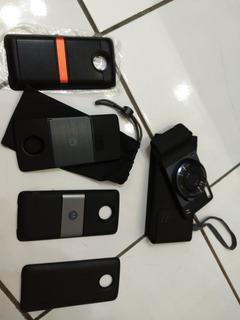 Moto Z2 Play, Nota Fiscal, Caixa Manuais E Snaps Projetor, C