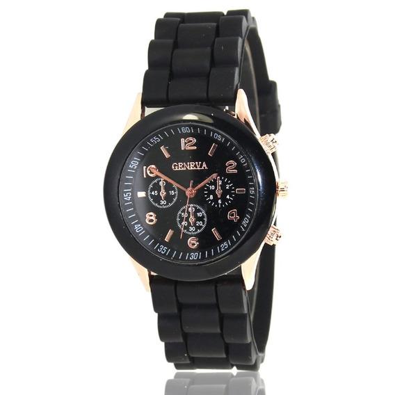 Zlf0328 Relógio Quartzo Com Cinta Silicone Mulheres