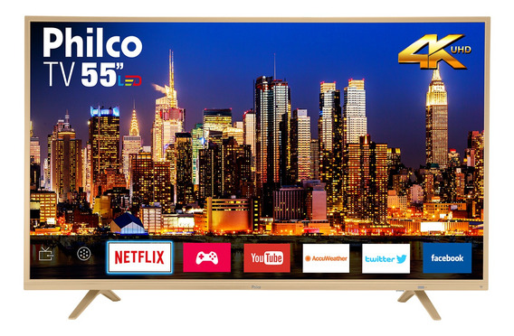 Smart Tv Philco Led 4k 55 Ptv55u21dswnc - Netflix