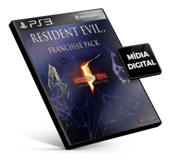 Jogo Resident Evil Franchise Pack Ps3 Midia Digital Psn