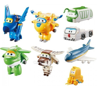 Super Wings Set 4 Transformable + 4 Basicos Int 710650 Orig
