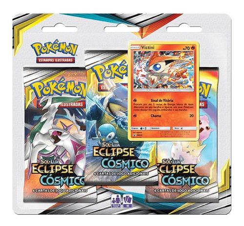 Card Game Pokémon Tcg Sol E Lua Blister Triplo Victini