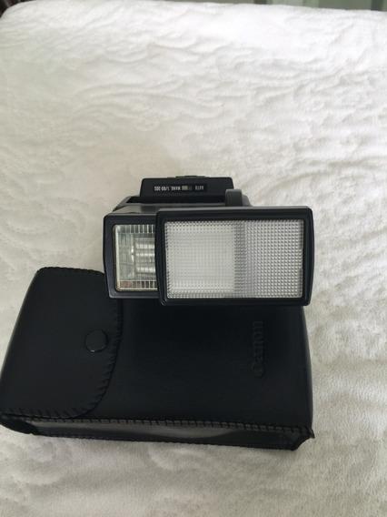 Flash Antigo Canon + Capa Couro Original Canon