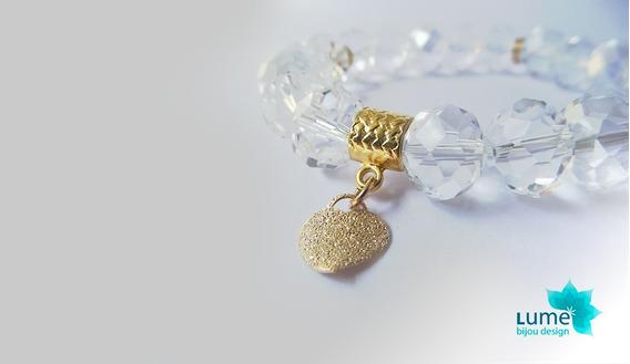 Pulseira Semijoia Cristal Transparente