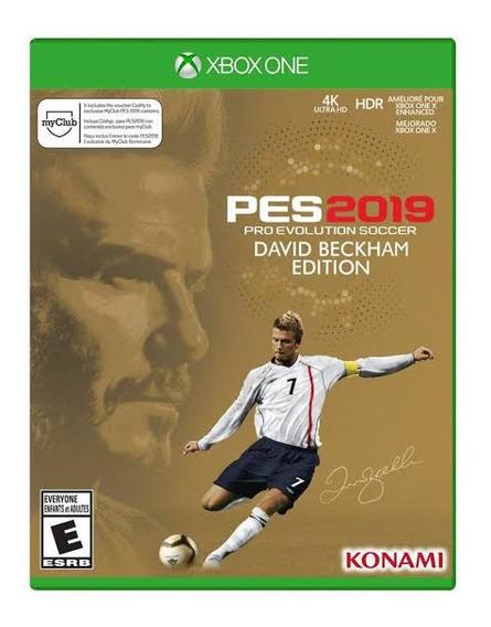Jogo Pes 2019 David Beckham Edition, Xbox One, Midia Fisica