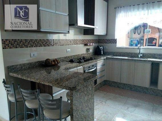 Sobrado Com 4 Dormitórios À Venda, 200 M² Por R$ 640.000 - Parque Oratório - Santo André/sp - So3363