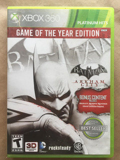 Batman Arkham City Goty 3d Xbox 360. Envíos Todo Chile