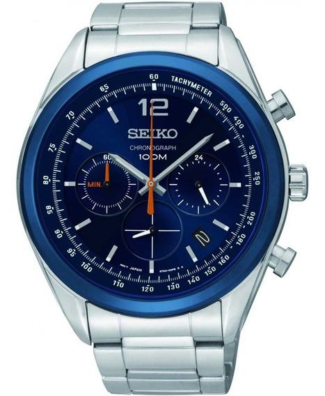 Relógio Seiko Masculino Cronógrafo Azul Original Ssb091b1 D2sx