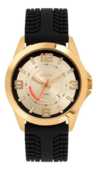Relógio Masculino Dourado Original Condor Luxo Prova D