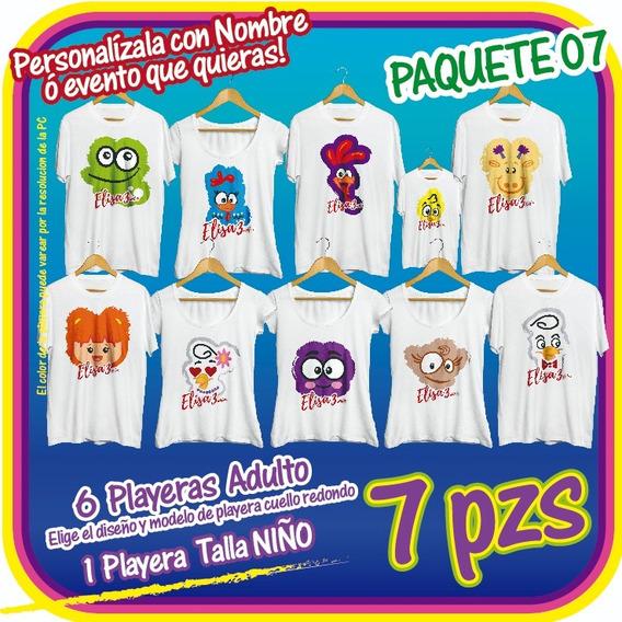 Gallina Pintadita 7pzs Paquete 07 Fiesta Infantil Playeras