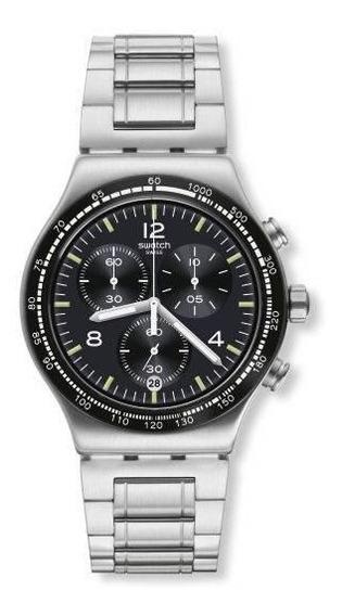 Relógio Swatch Night Flight Yvs444g Aço Prata Original