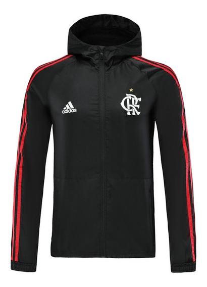 Jaqueta Corta Vento adidas Flamengo Masculina Impermeável