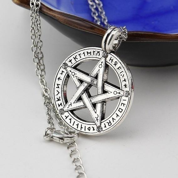 Colar Proteção Pentagrama Unissex - Envio Grátis