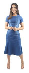 Vestido Jeans Evangelico Anagrom Nova Coleção 12x Sem Juros