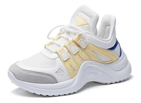Sapatos Casuais De Malha Respirável Para Mulheres Sapatos V