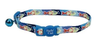 Collares Para Gato Collar Fashion Peces Azul Coastal Pet