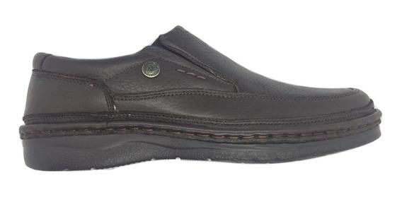 Zapato Ringo Modelo Flex Cuero Negro Y Marrón Sin Cordón