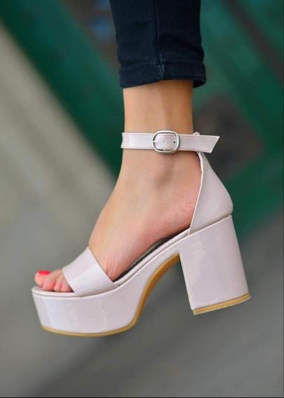 Zapatos Mujer Plataforma Sandalia Taco Palo Super Finas! Zapatos De Fiesta,varios Colores Nueva Temporada Envios Art 557