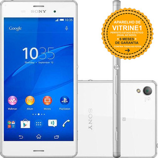 Sony Xperia Z3 D6633 16gb Dual 4g 20.7mp Branco Vitrine 1