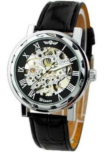 Relógio Importado Winner Skeleton Mecânico Promoção