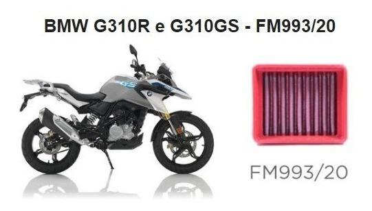 Filtro Ar Esportivo Bmc Fm993/20 Bmw G310r